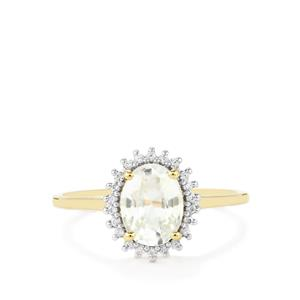 Singida Tanzanian Zircon Ring with White Zircon in 1K0 Gold 2.08cts