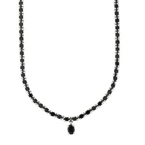 Black Spinel Necklace in Sterling Silver 29.52cts