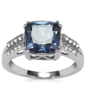 Hope Topaz Ring with White Topaz in Sterling Silver 4cts