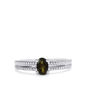 Chrome Tourmaline Ring in Sterling Silver 0.41cts
