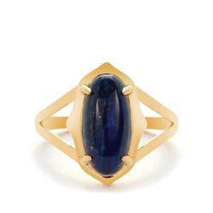 Lapis Lazuli Ring in Vermeil 3.61cts