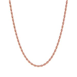 "22"" 9K Rose Gold Tempo Rope Chain 4.60g"