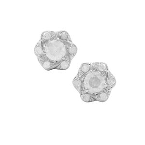 Diamond Earrings in Sterling Silver 0.53ct
