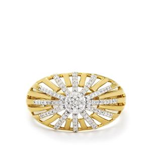 1/5ct Diamond Gold Plated Sterling Silver Ring