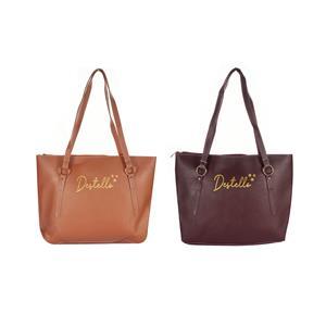 Destello Tote Handbag - .01= Caramel Colour / .02= Chocolate Colour