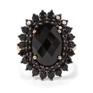 8.64ct Black Spinel Midas Ring