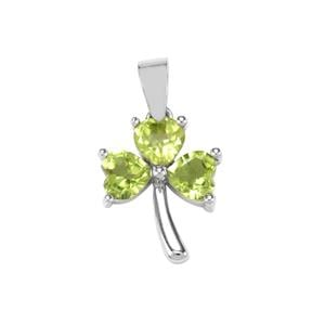 Changbai Peridot Pendant in Sterling Silver 2.40cts