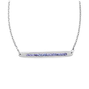 Tanzanite Bridge Necklace in Sterling Silver 1.02cts