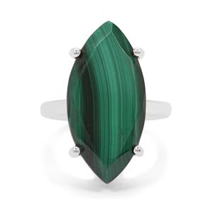 Malachite Ring in Sterling Silver 12.50cts