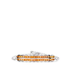 4.24cts Songea Yellow Sapphire Sterling Silver Bracelet
