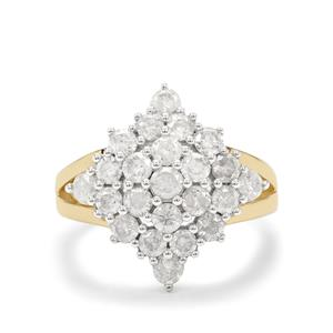 1.95ct Diamond 9K Gold Tomas Rae Ring