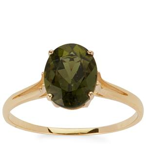 Moldavite Ring in 9K Gold 1.44cts
