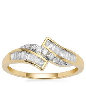 Diamond Ring in 9K Gold 0.46ct