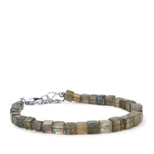 Labradorite Graduated Bead Bracelet in Sterling Silver 44cts