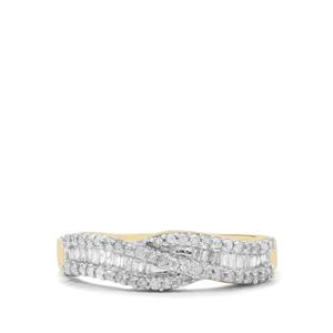Diamond Ring in 9K Gold 0.35ct