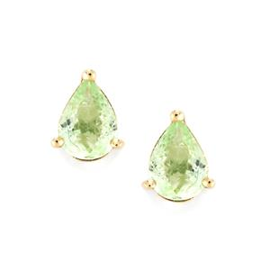 Paraiba Tourmaline Earrings in 9K Gold 1.34cts
