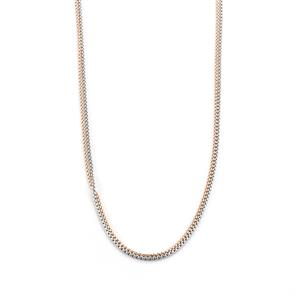 """16""""-18"""" Two Tone Sterling Siver Necklace"""