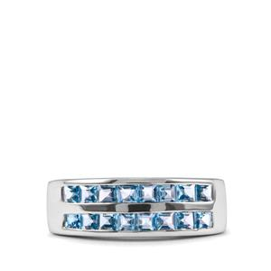 1.80ct Swiss Blue Topaz Sterling Silver Ring