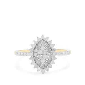 Diamond Ring in 9K Gold 0.57ct