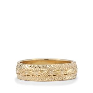 Filigree Gold Band Ring in 9K Gold