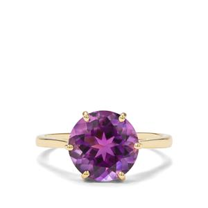 3.27ct Moroccan Amethyst 9K Gold Ring