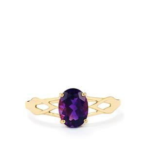 1.20ct Moroccan Amethyst 9K Gold Ring