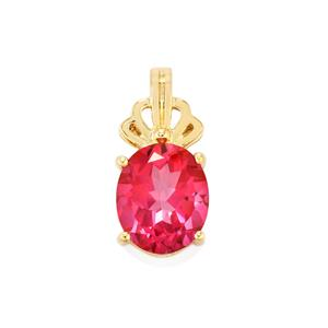 Mystic Pink Topaz Pendant in 9K Gold 5.56cts
