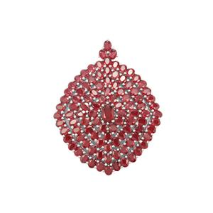 Malagasy Ruby Pendant in Sterling Silver 27.19cts