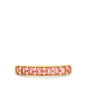 Natural Pink Tourmaline Ring in 10k Gold 0.60cts