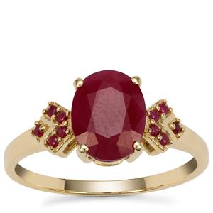 Burmese Ruby Ring with Madagascan Ruby in 9K Gold 2.55cts