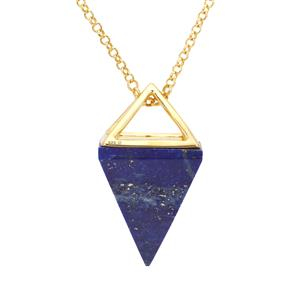 Sar-i-Sang Lapis Lazuli Pendant Necklace in Gold Plated Sterling Silver 30cts
