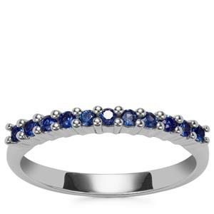 Blue Sapphire Ring in Sterling Silver 0.32cts