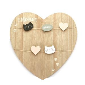 Wooden Wall Hanging Message and Photo Clip Board Size 40 x 40 x 2cm