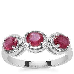 Thai Ruby Ring in Sterling Silver 1.35cts (F)