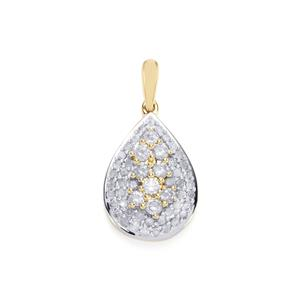 3/4ct Diamond 10K Gold Pendant