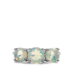 Ethiopian Opal 9K White Gold Ring ATGW 1.68cts