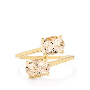 Rose Danburite Ring  in 10k Gold 2.47cts