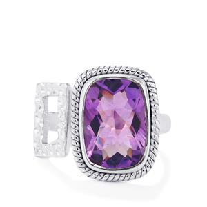 6ct Bahia Amethyst Sterling Silver Aryonna Ring