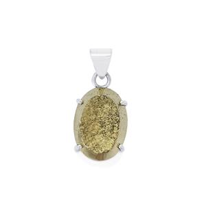 Drusy Pyrite Pendant in Sterling Silver 35cts