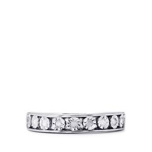 Diamond Ring in Sterling Silver 0.14ct