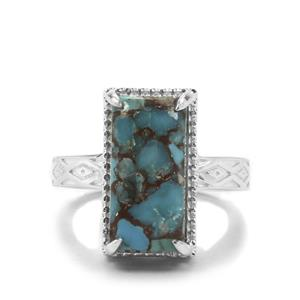 6.63ct Egyptian Turquoise Sterling Silver Ring