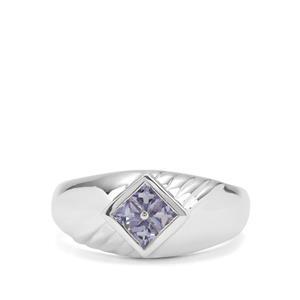 0.38ct Tanzanite Sterling Silver Ring