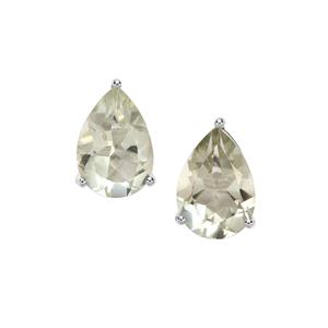 Prasiolite Earrings in Sterling Silver 3.39cts