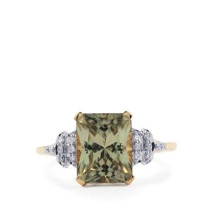 Csarite® Ring with Diamond in 18K Gold 3.63cts