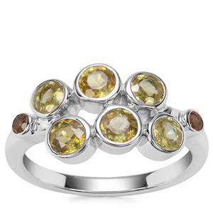 Ambilobe Sphene Ring with Morafeno Sphene in Sterling Silver 1.71cts