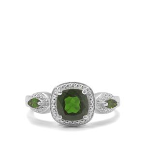1.63ct Chrome Diopside Sterling Silver Ring