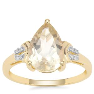Serenite Ring with White Diamond in 9K Gold 2.51cts