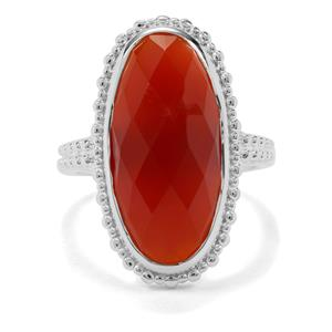 11.14ct Red Onyx Sterling Silver Ring