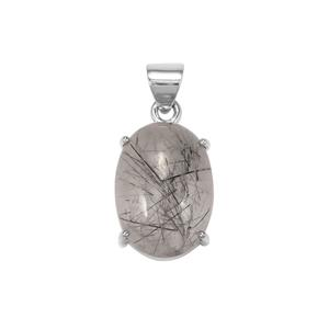 São Paulo Tourmalinated Quartz Pendant in Sterling Silver 28.50cts