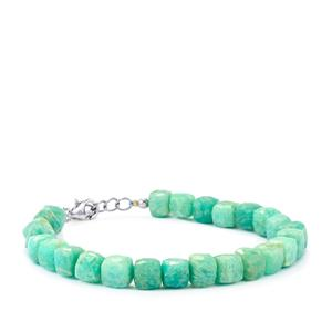 95ct Amazonite Sterling Silver Bead Bracelet